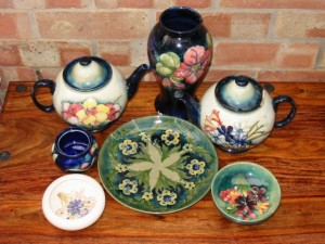 Moorcroft pieces before Repair and Restoration