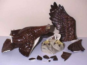 Beswick Eagle before restoration and repair